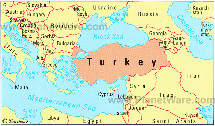 Turkey Türkiye - Map of syria and turkey
